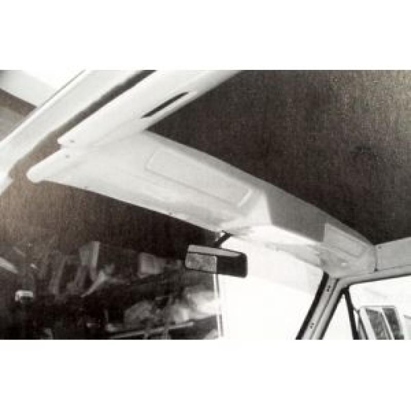 Dachkonsole in schwarz Radio DIN-Schacht